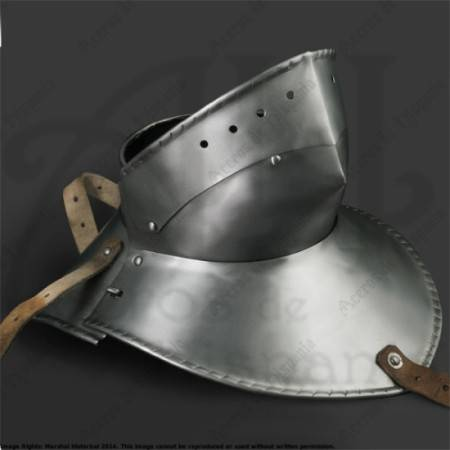 GORGET XVth FOR MEDIEVAL RECREATION MARSHALL HISTORICAL