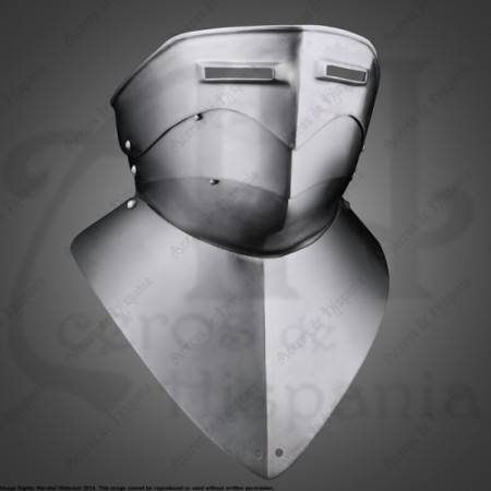 GORGET WITH SCOPE XVIth FOR MEDIEVAL RECREATION MARSHALL HISTORICAL
