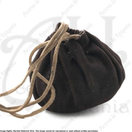 LEATHER BAG FOR MONEY FOR MEDIEVAL RECREATION MARSHALL HISTORICAL