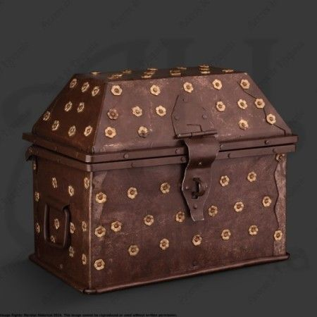 MEDIUM GOTHIC TRUNK FOR MEDIEVAL RECREATION MARSHALL HISTORICAL