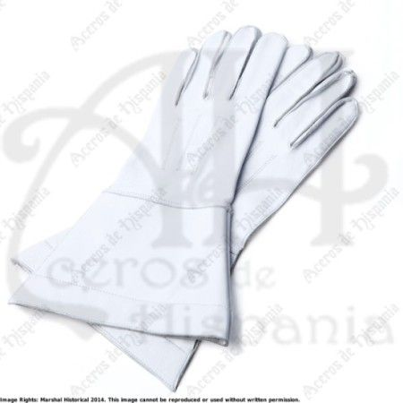 HORSEMAN GLOVES WHITE FOR MEDIEVAL RECREATION MARSHALL HISTORICAL