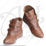 LOW BOOTS WITH BUCKLES FOR MEDIEVAL RECREATION MARSHALL HISTORICAL