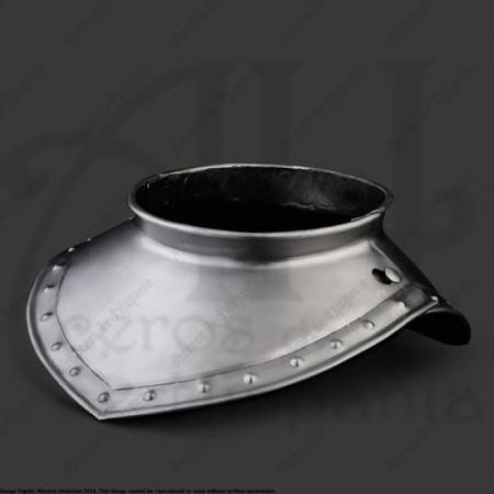 GORGET XVIth FOR MEDIEVAL RECREATION MARSHALL HISTORICAL