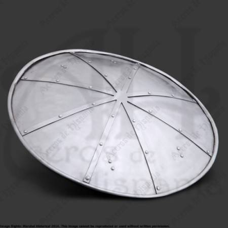 REINFORCED SHIELD 48CM FOR MEDIEVAL RECREATION MARSHALL HISTORICAL