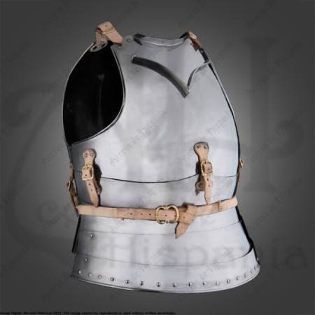 ITALIAN CHESTPLATE xvth CENTURY FOR MEDIEVAL HISSTORICAL RECREATION. MARSHALL HISTORICAL.