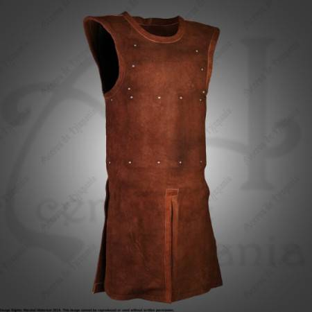 SUEDE LEATHER SAN MAURICIO BRIGANDINE FOR MEDIEVAL RECREATION MARSHALL HISTORICAL
