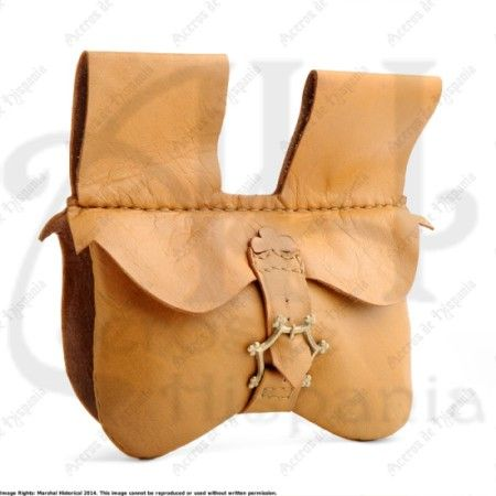 BAG WITH COMPARTMENT FOR MEDIEVAL RECREATION MARSHALL HISTORICAL