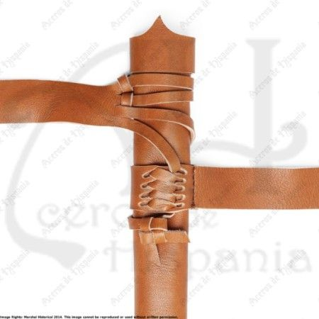 BROWN SWORD SCABBARD FOR MEDIEVAL RECREATION MARSHALL HISTORICAL