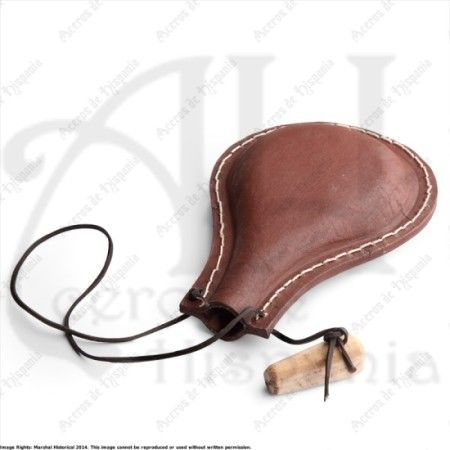 LEATHER WATER BOTTLE III FOR MEDIEVAL RECREATION MARSHALL HISTORICAL