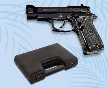 Blank gun, front firing