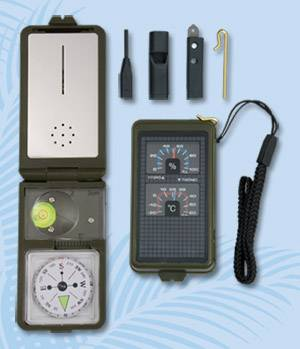 COMPASS WITH ACCESORIES