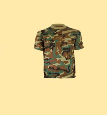 GREEN CAMOUFLAGE T-SHIRT