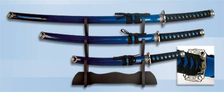 SET OF BLUE SAMURAIS