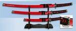SET OF RED SAMURAIS