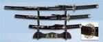 SET OF SAMURAIS OF CARBON STEEL