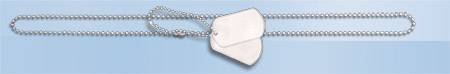 MILITARY DOG TAG SET