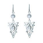 Earrings simple Arwen Evenstar, made of silver and Swarovski crystals.