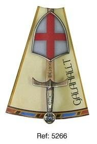 Mini shield and sword Galahallt, of series Knights of the Round Table