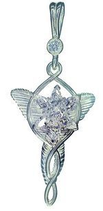 Arwen Pendant, in silver and Swarovski crystals. With chain included.