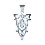Arwen Pendant simple, made ??of silver bath and crystals.