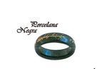 Black Porcelain Ring Lord of the Rings and the Hobbit