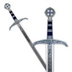 Robin Hood Sword silver, finished in blue. Deep prints on the sheet.