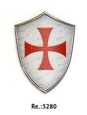 Mini Shield magnet templar cross