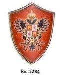 Shield mini with the Carlos V, medieval shields