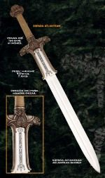 Atlantean Sword of Conan the Barbarian movie, bronze and silver finishes