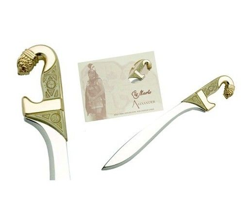 Sword mini Crateros, Letter Opener  in finish Gold, Silver and Bronze. Colletion Alexander