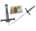 Mini sword Macleod, the saga of the immortals. Finished in silver, bronze and gold