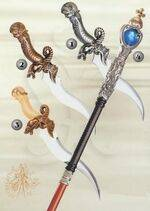 SILVER MERLIN DAGGER, BONZE MERLIN DAGGER, GOLD MERLIN DAGGER AND MERLIN STICK