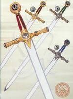 MASONIC GOLD SWORD, MASONIC BRONZE SWORD AND MASONIC SILVER SWORD