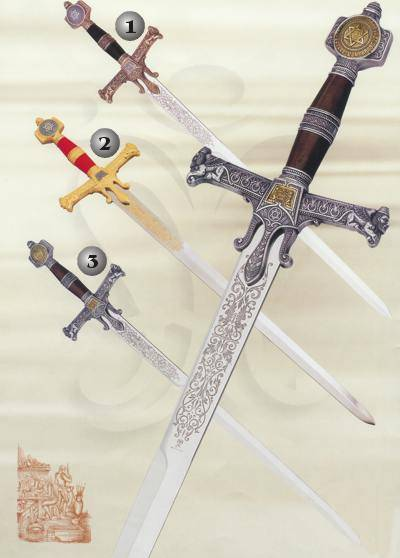 SALOMON BRONZE SWORD, SALOMON GOLD SWORD AND SALOMON SILVER SWORD