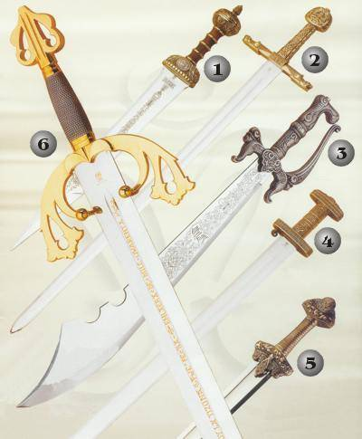 ROMAN SWORD, CHARLEMAGNE SWORD, CUTLAS SWORD, VIKING SWORD AND TIZONA CID SWORD