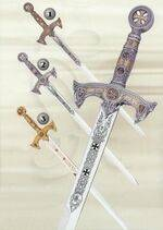 TEMPLARS BRONZE SWORD, TEMPLARS SILVER SWORD AND TEMPLARS GOLD SWORD