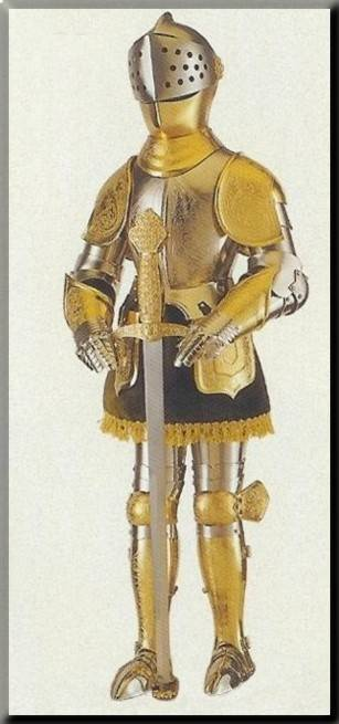 Medieval armour with Toledo sword