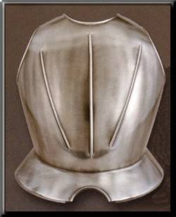 Breastplate of medieval armour