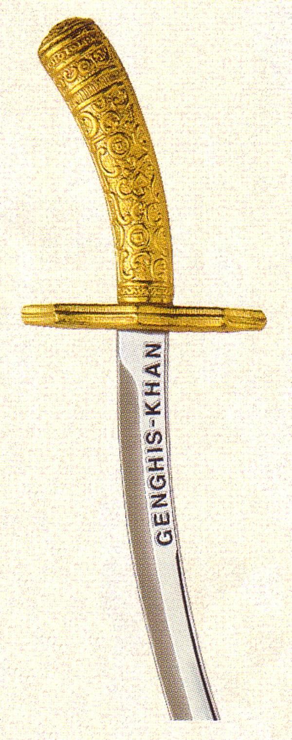 Genghis khan mini sword gold silver bronze mini sword collection genghis khan mini sword biocorpaavc Images