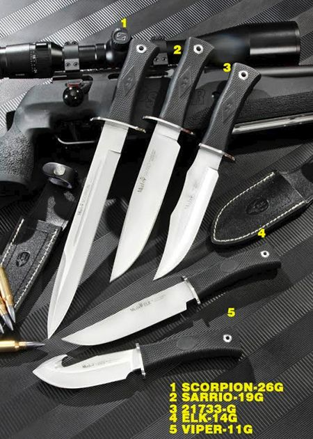 MUELA HUNTING PENKNIVES. SERIE RUBBER