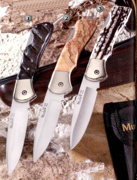 Muela pocket knives of mount