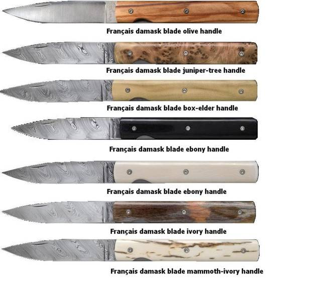 Damasco perceval pocket knives