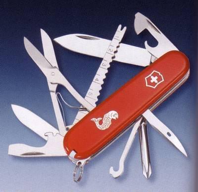 Fisherman Victorinox Pocket Knife Swiss Army Knives Multi