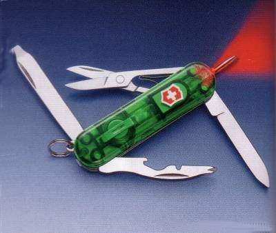 Victorinox penknife with lamp