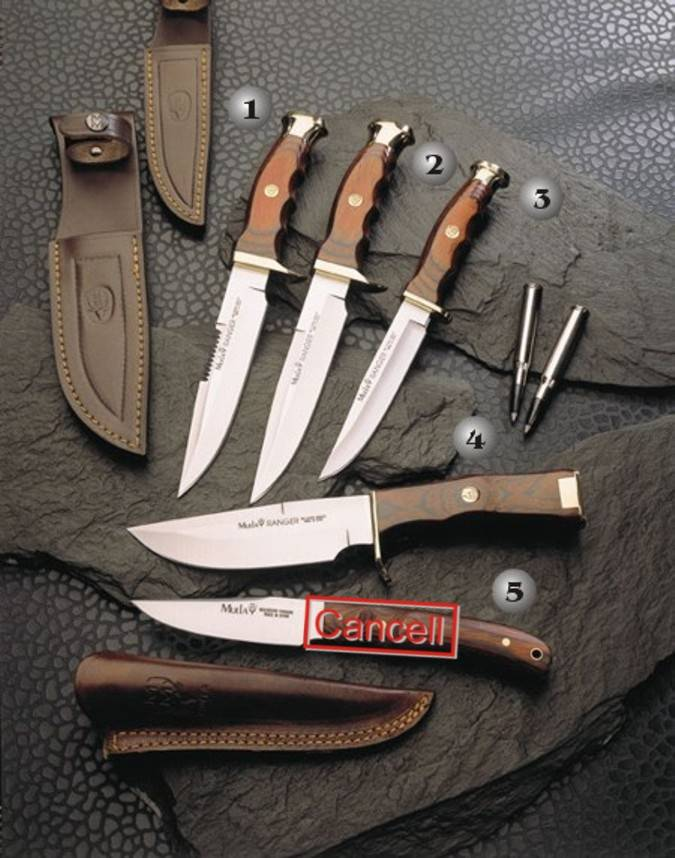 Muela knives with handle of wood