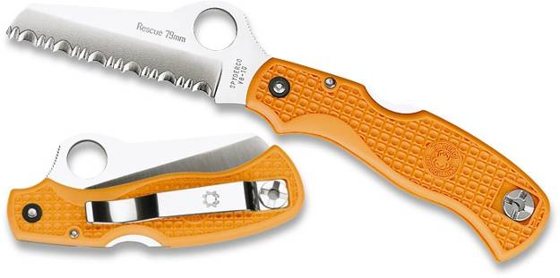 Spyderco Rescue 79 Mm Orange Pocket Knife David Boye Dent