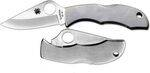 SPYDERCO LADYBUG 3POCKET KNIFE. HANDLE OF STAINLESS STEEL