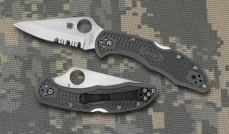 SPYDERCO DELICA FOLIAGE GREEN POCKET KNIVES