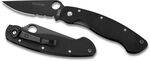 SPYDERCO BLACK BLADE  MILITARY PENKNIFE WITH COMBINATED EDGE