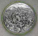 ROUND SHIELD FOR TWO SWORDS